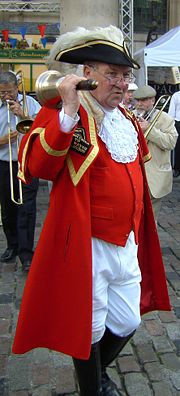 Peter Moore, town crier to the City of Westminster (London).